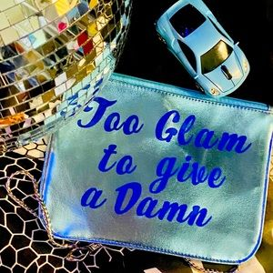 Too Glam to Give a Damn Shimmery Pouch